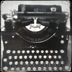 Elizabeth Howard Writer - Vintage Royall Typewriter