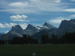Three Sisters, Alberta - Big Sister (Faith), Middle Sister (Charity) and Little Sister (Hope)