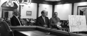 Attorneys Bellis Kelly and Casey at town Inland Wetlands Committee meeting, covered by local newspaper