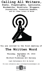 The Written Word: A Writers Gathering in CT @ Firehouse Art Gallery