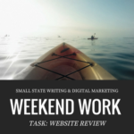 Website Review Weekend Work Marketing Strategy