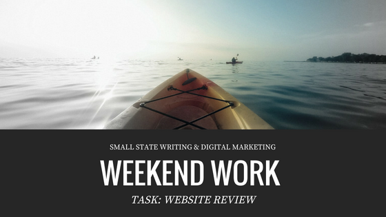 Weekend Work for Small Business: Website Review