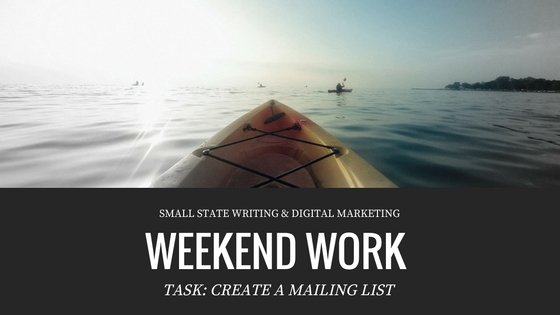 Weekend Work: Create a Mailing List Using MailChimp