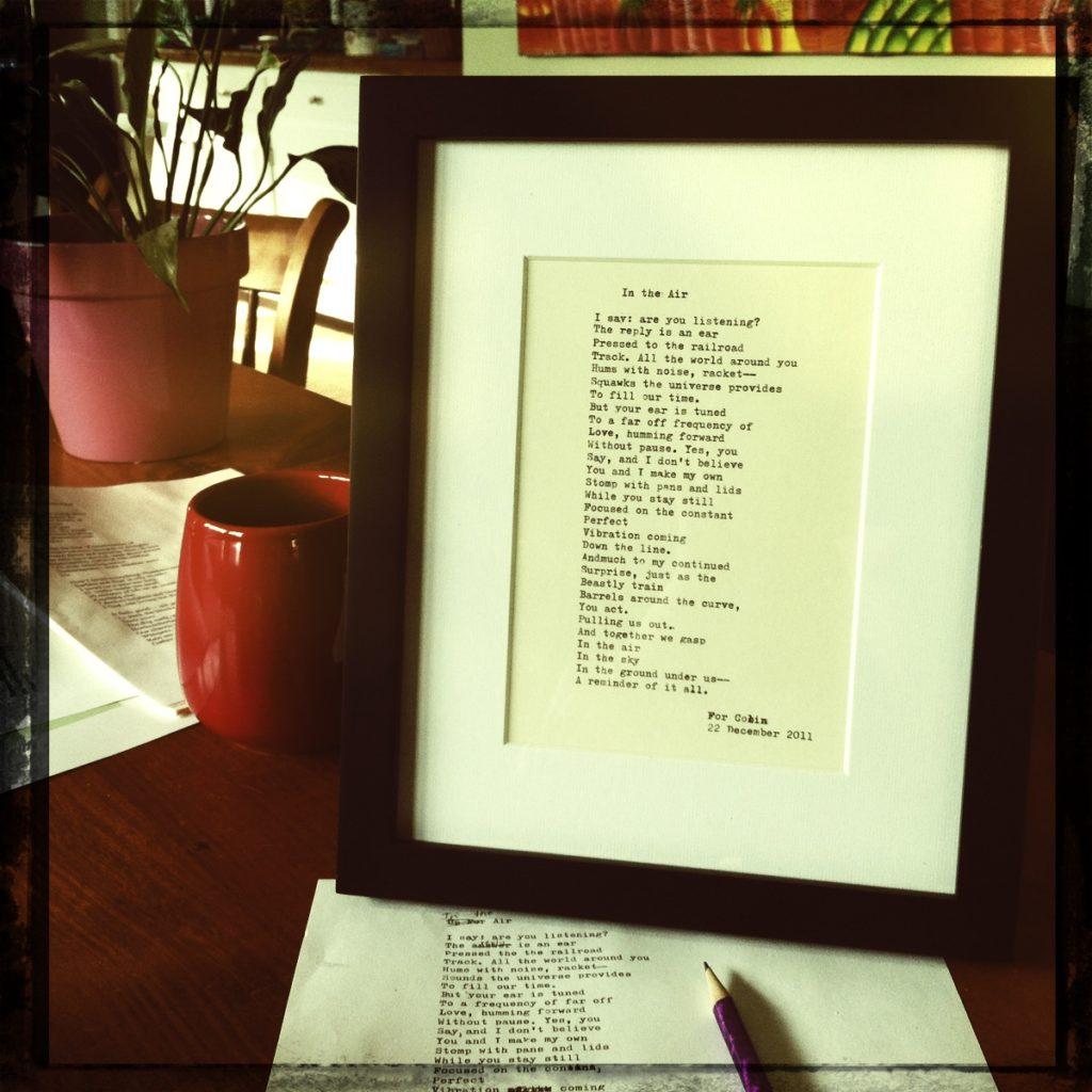 Demand Poetry framed Elizabeth Howard
