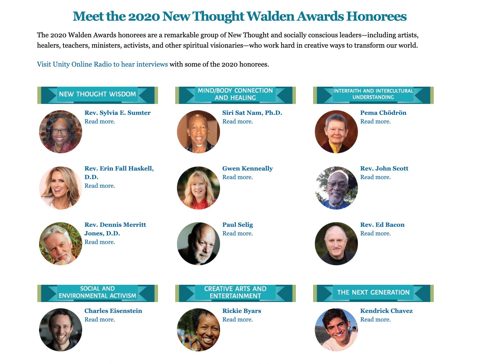 Unity Online Radio - Walden Awards
