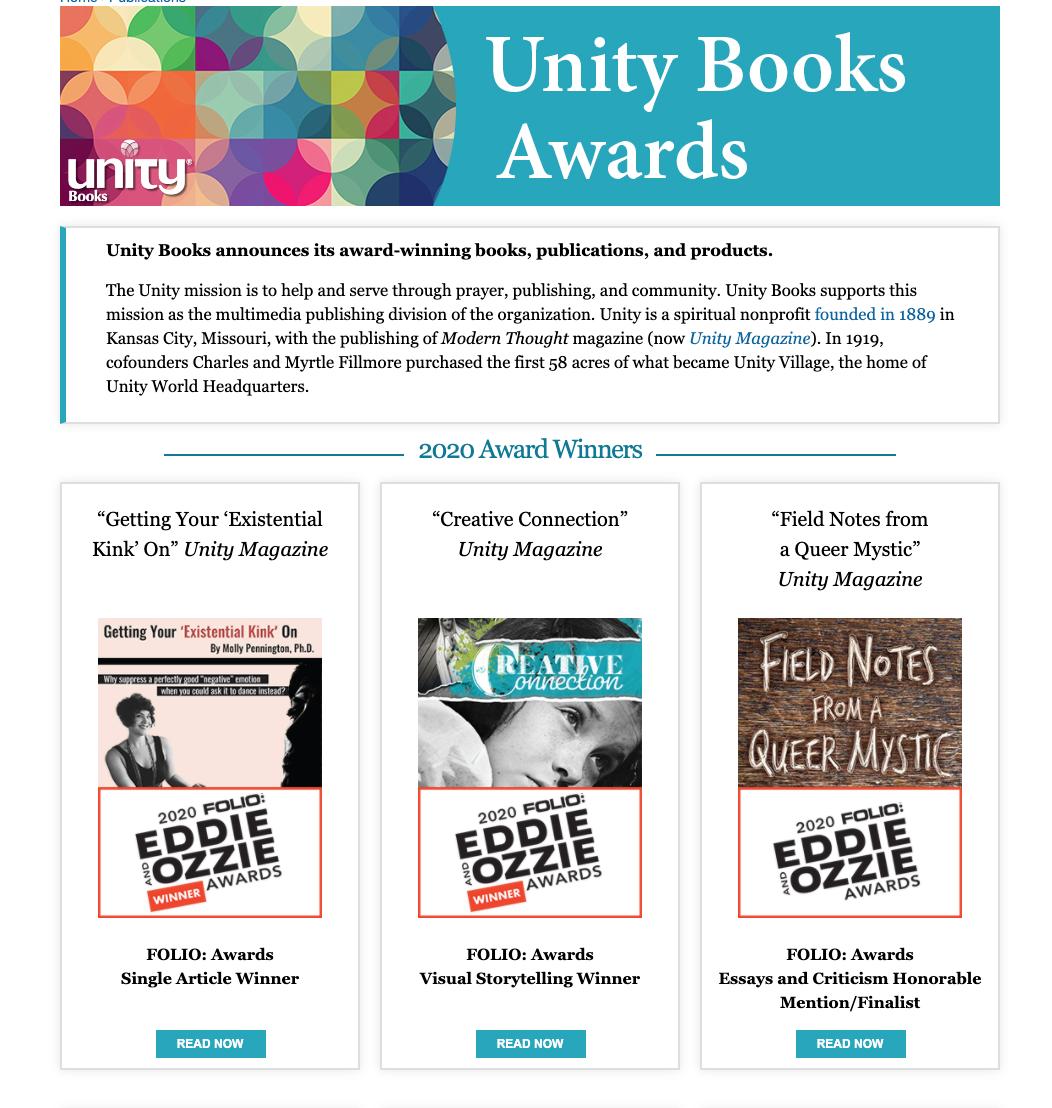Unity Books Awards